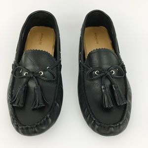 Coach Shoes - Coach Nadia Black Leather Driving Loafer Flats
